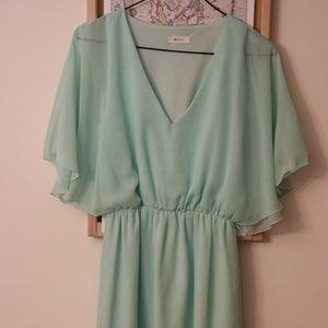 Mint Green Sheer/Lined Dress